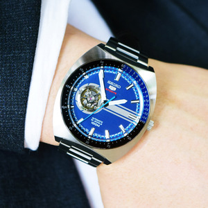 [세이코5 SEIKO5] SSA327K1 Sports Retro Open Heart Automatic 44mm